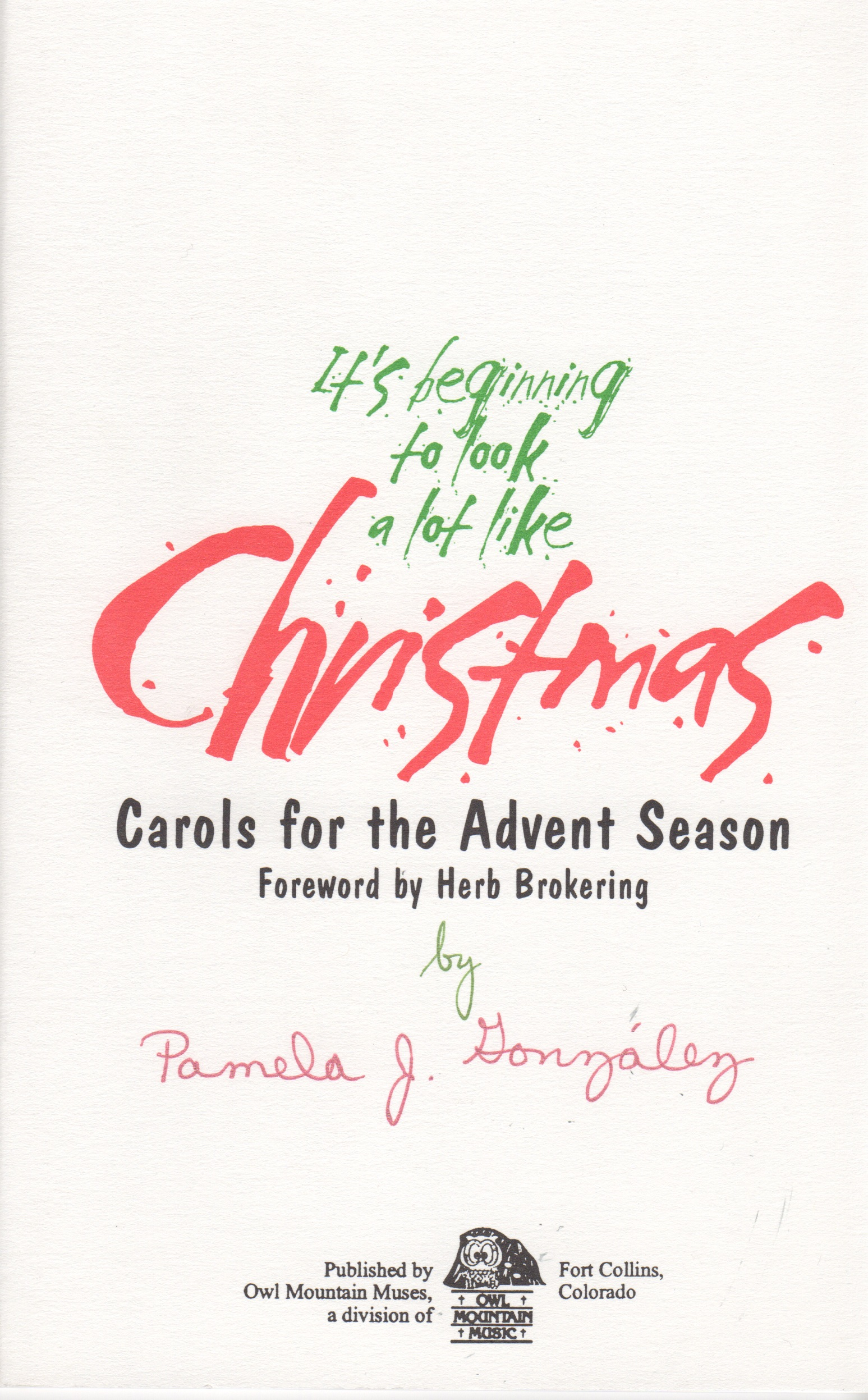 It\'s Beginning to Look a lot Like Christmas, pamela gonzalez