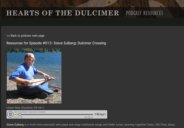 Steve Featured in Hearts of the Dulcimer Podcast #015